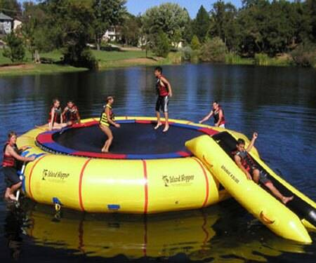 20 Foot Water Trampoline - http://coolthings.us