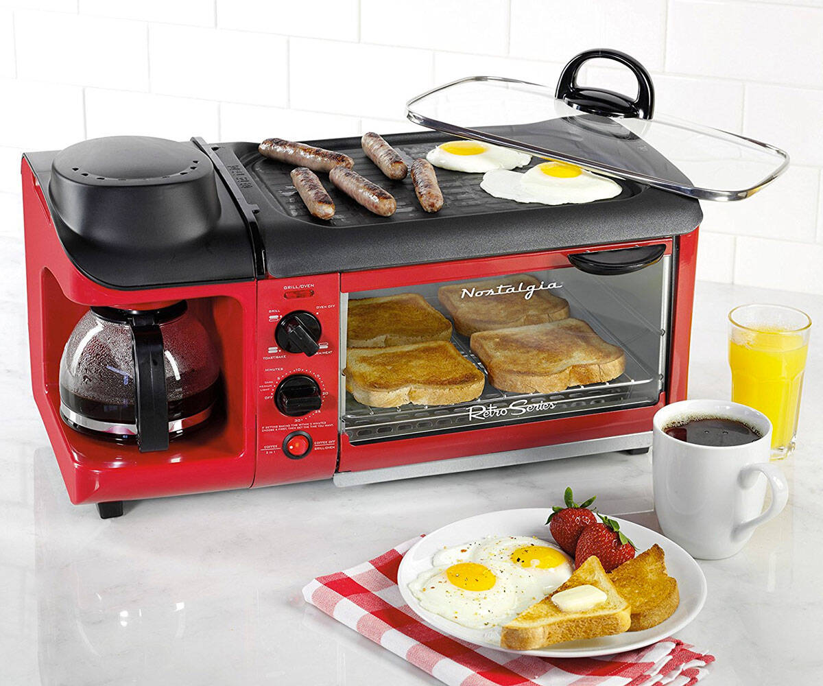 Family Size Hat Trick Breakfast Station - coolthings.us