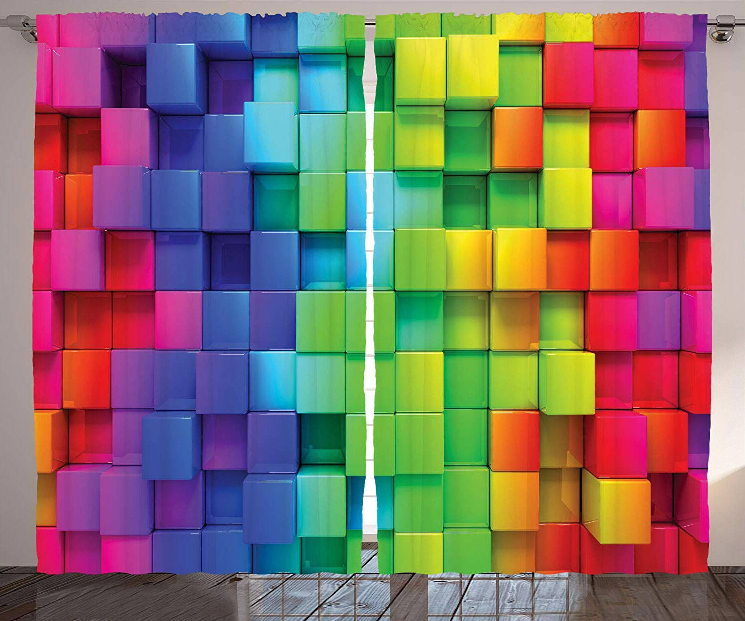 3D Cube Curtains - http://coolthings.us