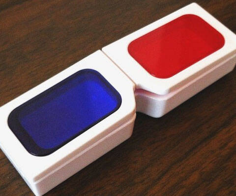 3D Glasses Contacts Case - http://coolthings.us