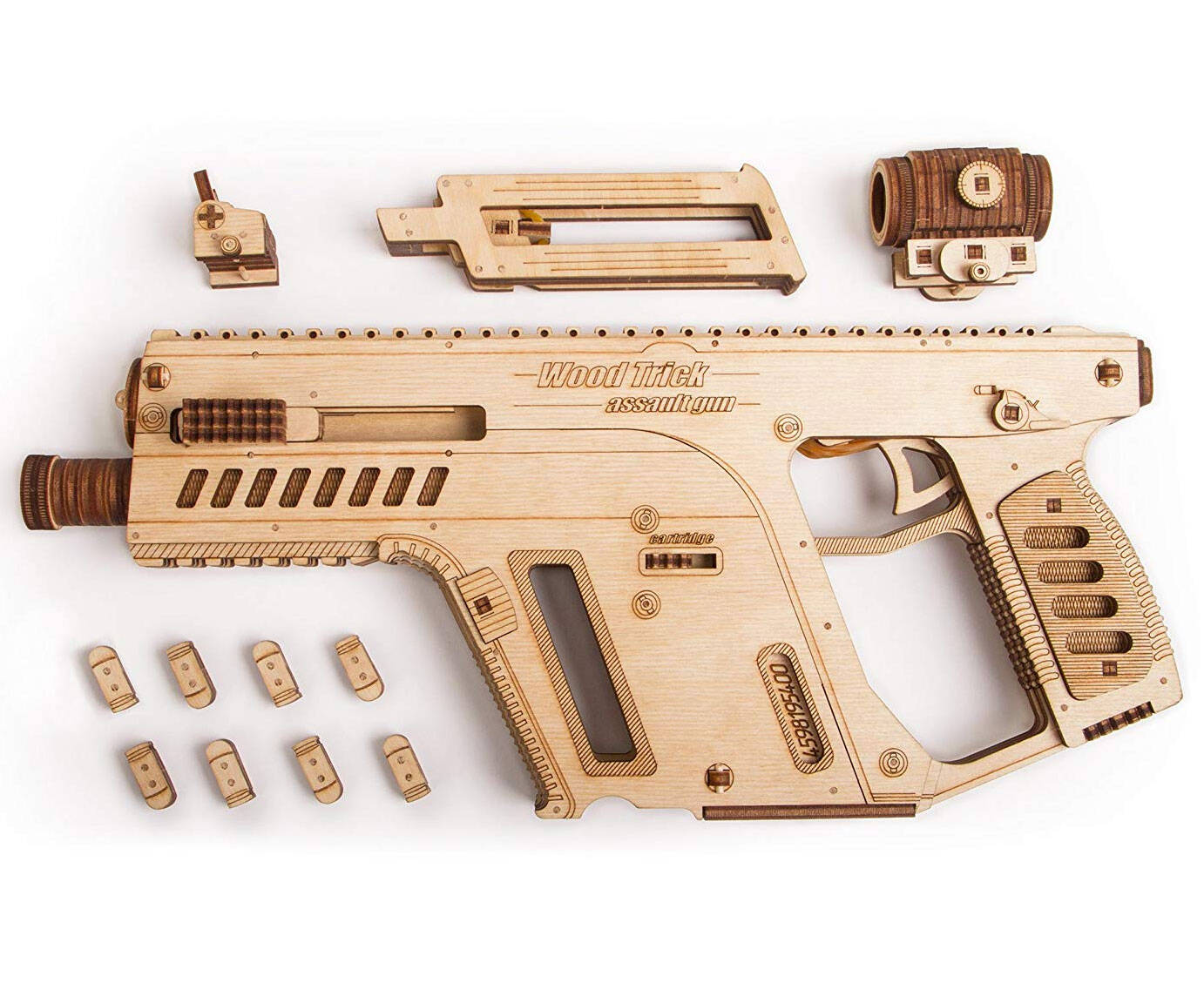 3D Assault Rifle Wooden Puzzle - http://coolthings.us