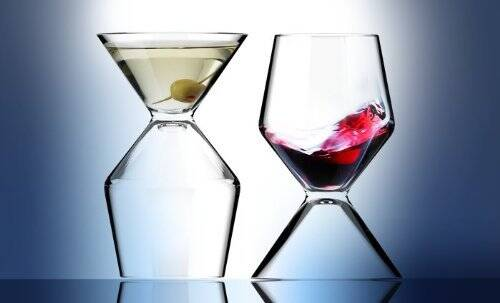 2-In-1 Martini Wine Glass - http://coolthings.us