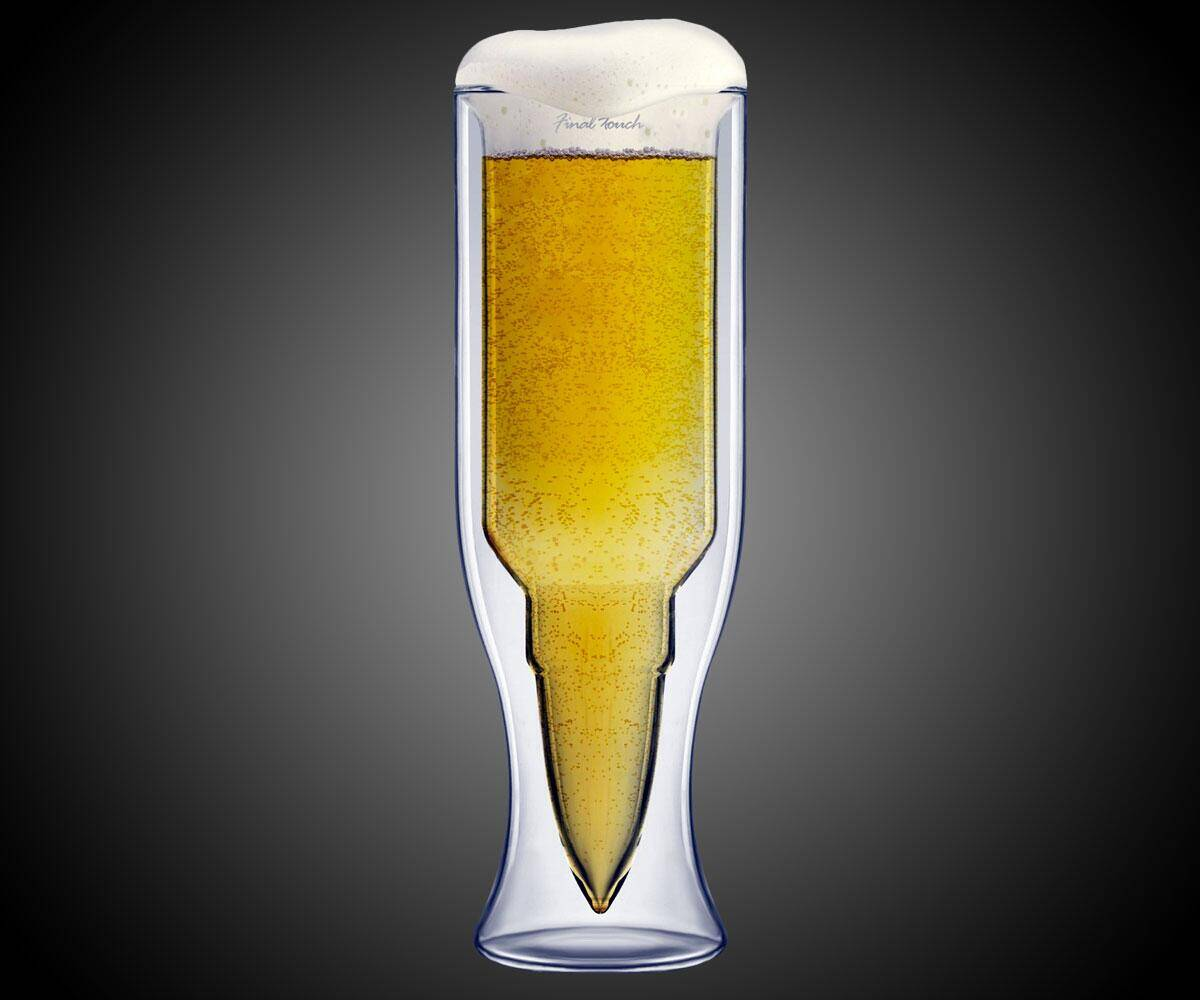 50 Caliber Bullet Beer Glass - coolthings.us