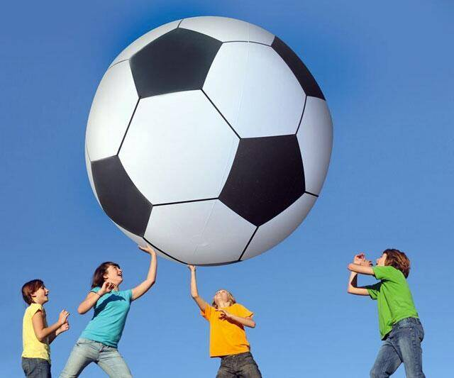Six Foot Tall Soccer Ball - http://coolthings.us