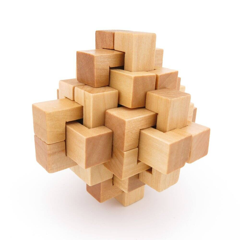 Wooden Kong Ming Lock Puzzle - http://coolthings.us