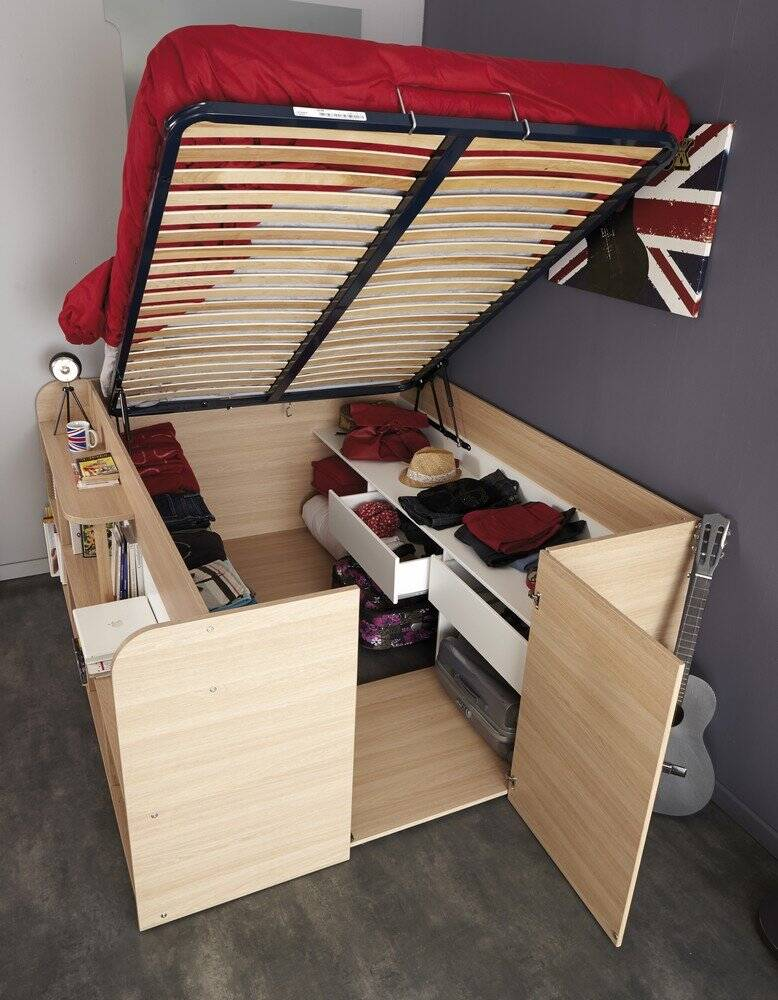Space Up Bed And Storage - http://coolthings.us
