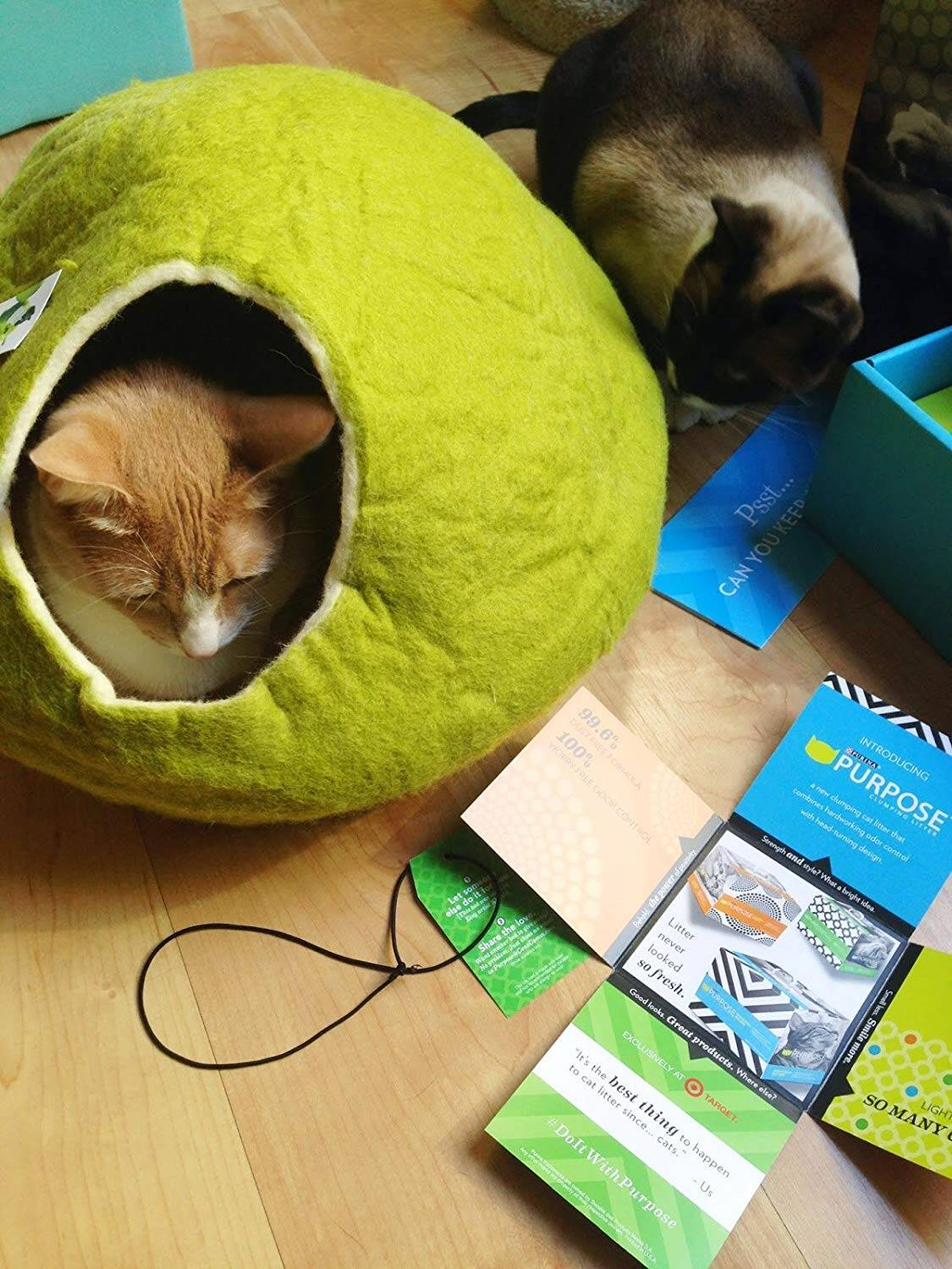 Spherical Cat Cave Bed - http://coolthings.us