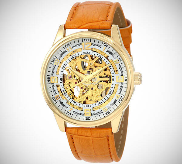 Akribos Skeleton Gold Watch - http://coolthings.us