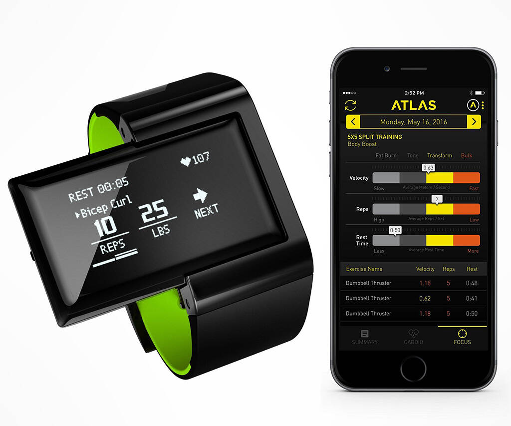 Atlas Digital Trainer & Heart Rate Wristband - http://coolthings.us