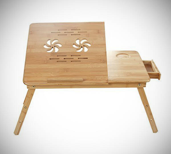 Bamboo Portable Laptop Desk Table - http://coolthings.us