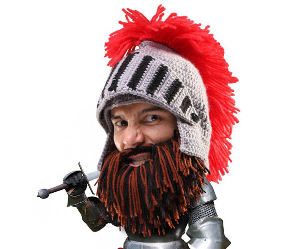 Barbarian Knight Beard Hat - http://coolthings.us