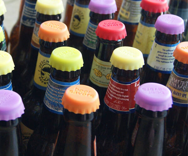 Beer Savers Silicone Bottle Caps - http://coolthings.us