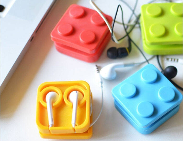 Block Earphone Holder Case - http://coolthings.us