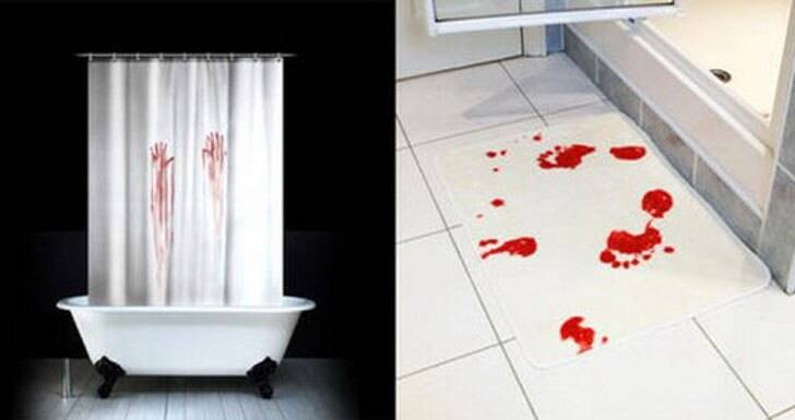 Bloody Handprint Shower Curtain - http://coolthings.us