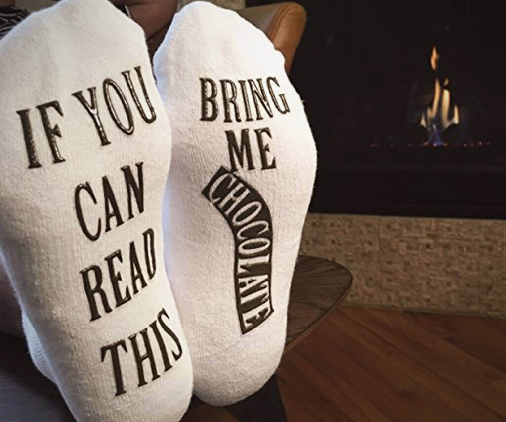 Bring Me Chocolate Socks - http://coolthings.us