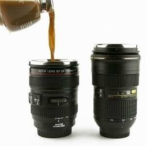The Camera Lens Coffee Mug - http://coolthings.us