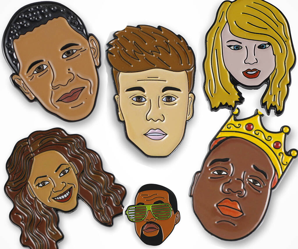 Celebrity Character Enamel Lapel Pins - coolthings.us