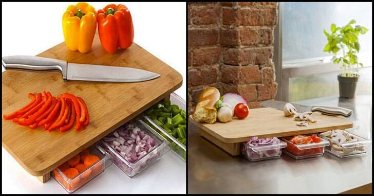Concealed Drawers Cutting Board - http://coolthings.us