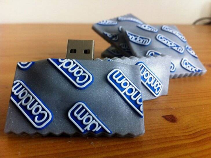 Condom USB Flash Drive - http://coolthings.us