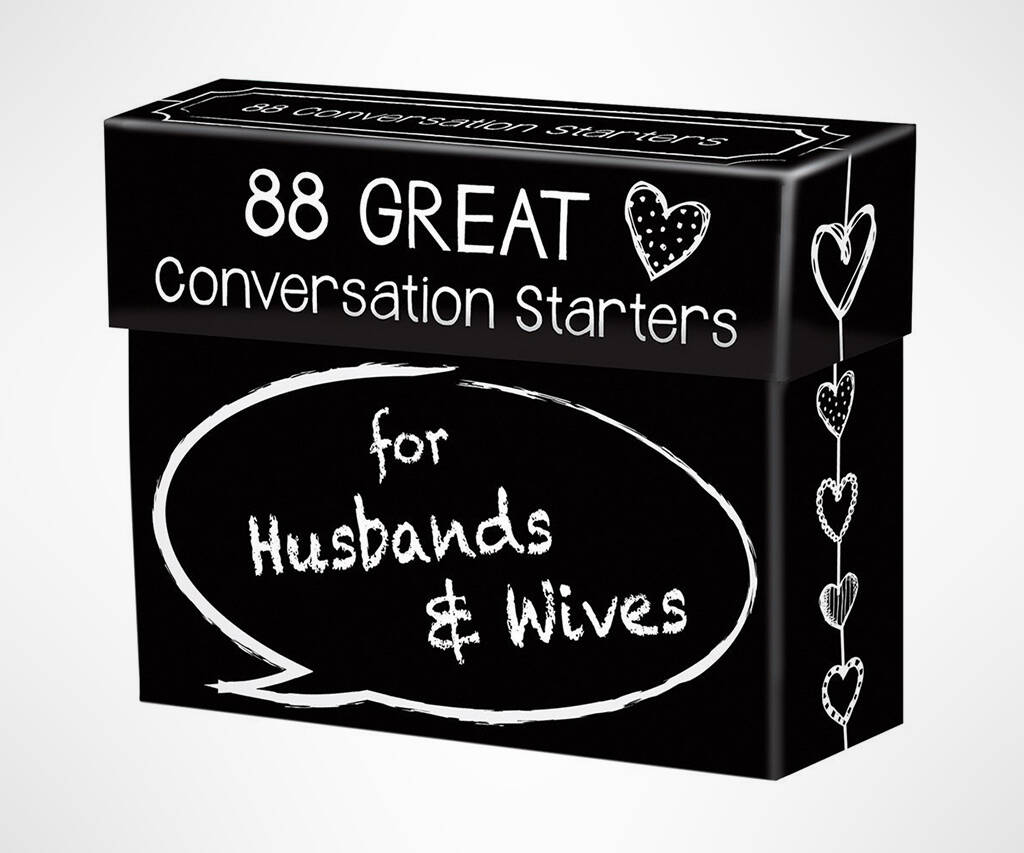 Conversation Starters for Husbands & Wives - http://coolthings.us