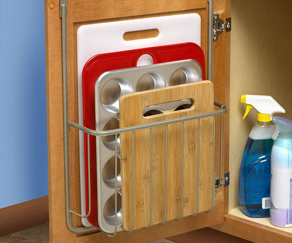 Cutting Board & Bakeware Holder - http://coolthings.us