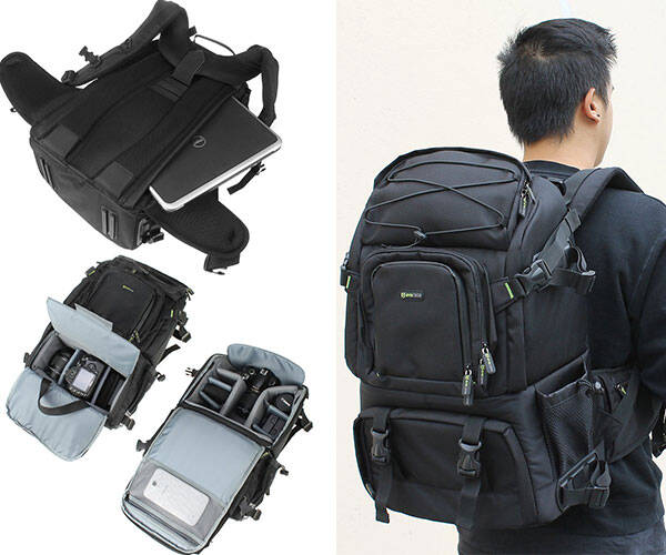Evecase Canvas DSLR Travel Camera Backpack - http://coolthings.us
