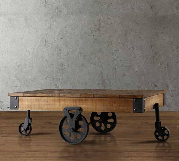 Factory Coffee Table Cart - http://coolthings.us