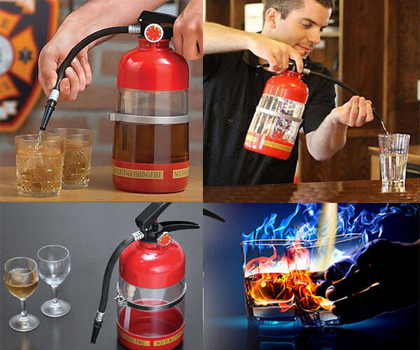 Fire Extinguisher Booze Shaker & Dispenser - coolthings.us
