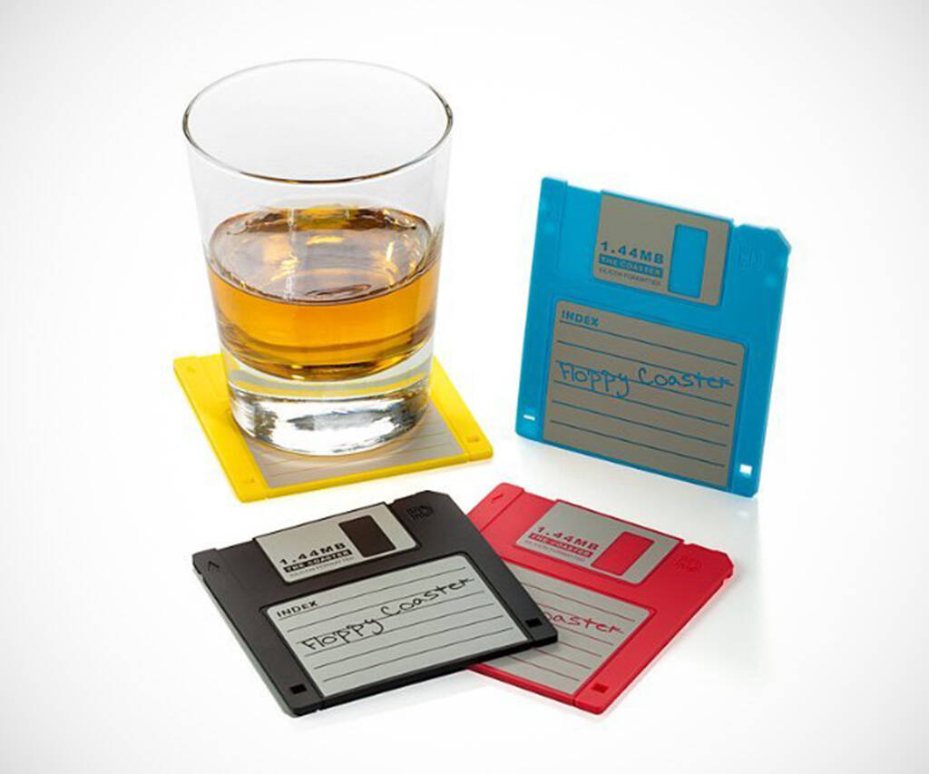 Floppy Disk Drink Coasters - http://coolthings.us