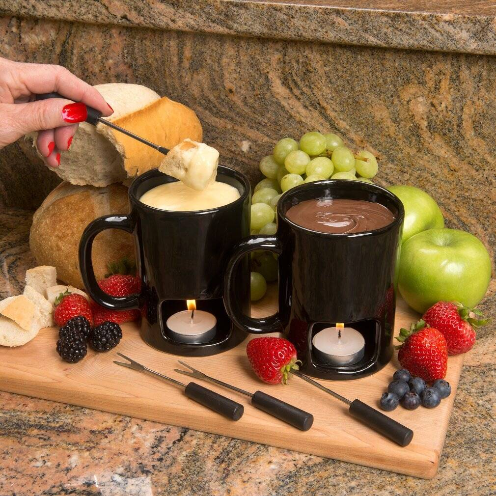 Fondue Mugs - http://coolthings.us