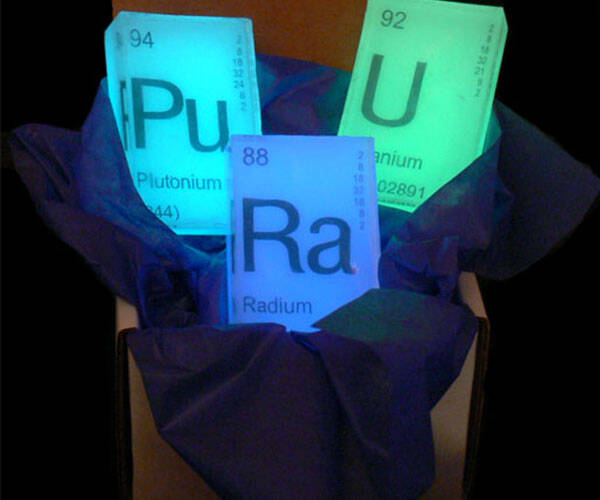 Glow in the Dark Periodic Table Soap - http://coolthings.us