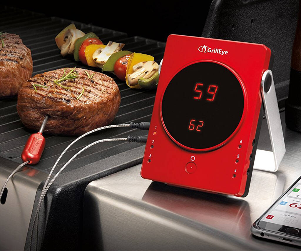 GrillEye Bluetooth Grilling & Smoking Thermometer - http://coolthings.us