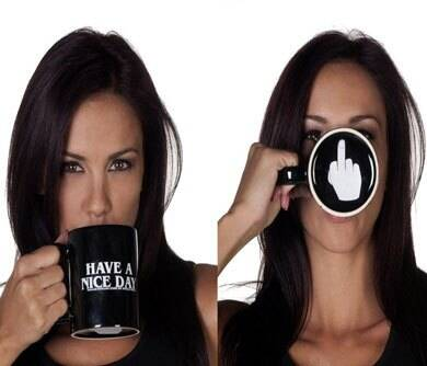 Have A Nice Day Middle Finger Mug - http://coolthings.us