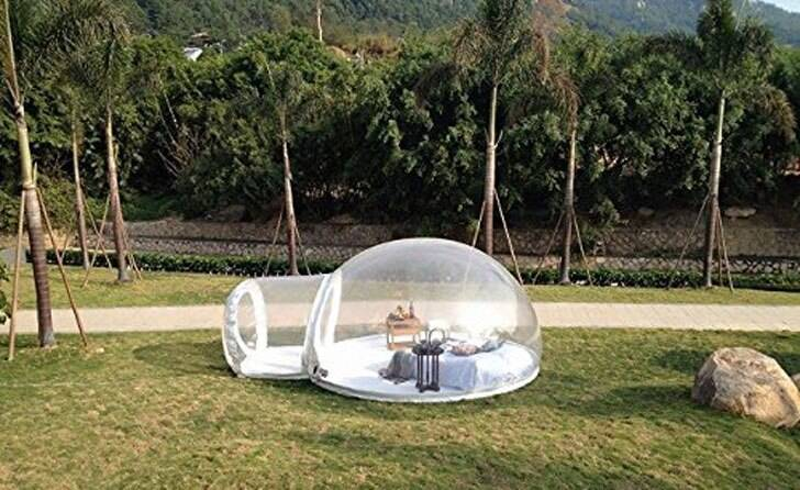 Inflatable Bubble Tent - http://coolthings.us