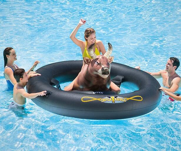 Inflat-A-Bull Pool Toy - http://coolthings.us