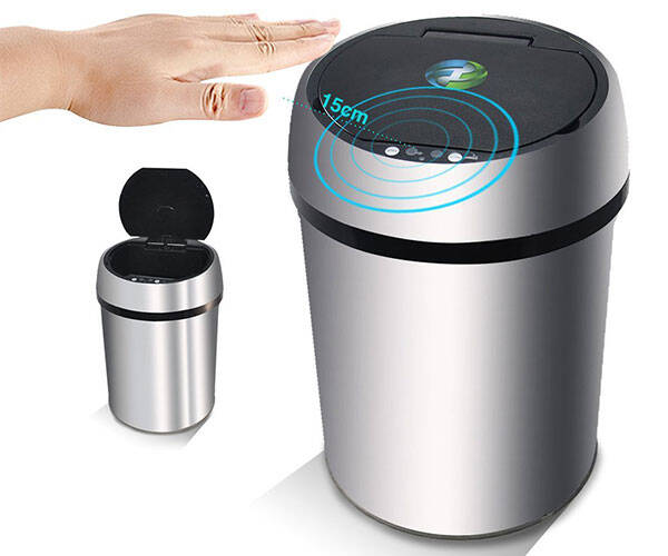 Infrared Touchless Smart Trash Can - http://coolthings.us