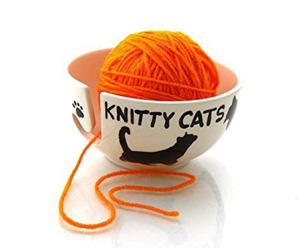 Knitty Cats Yarn Bowl - http://coolthings.us