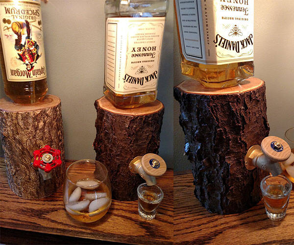 Log Liquor Dispenser Serve your Liquor in Style - http://coolthings.us