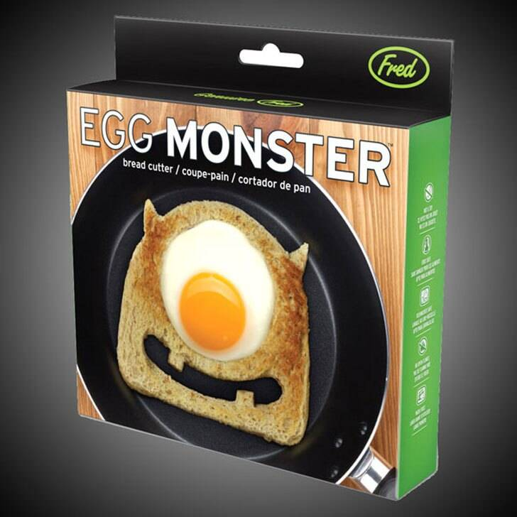 Egg Monster Bread Cutter Mold - http://coolthings.us