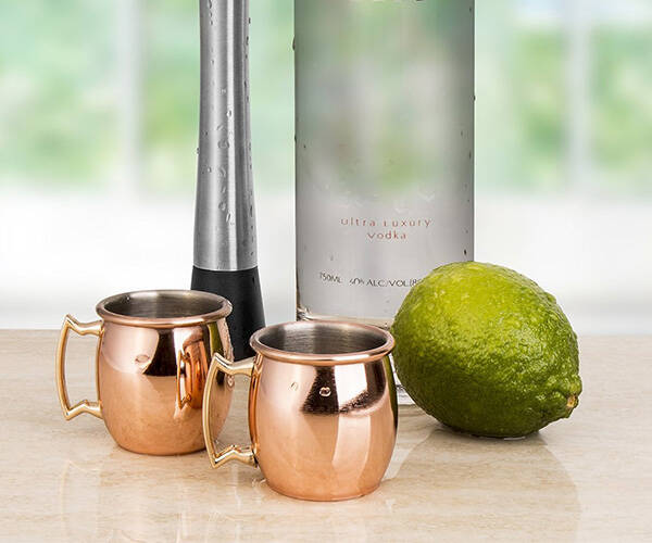 Moscow Mule Copper Mug Shot Glasses - http://coolthings.us