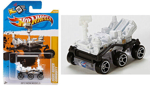 NASA Mars Rover Curiosity Hot Wheels - http://coolthings.us