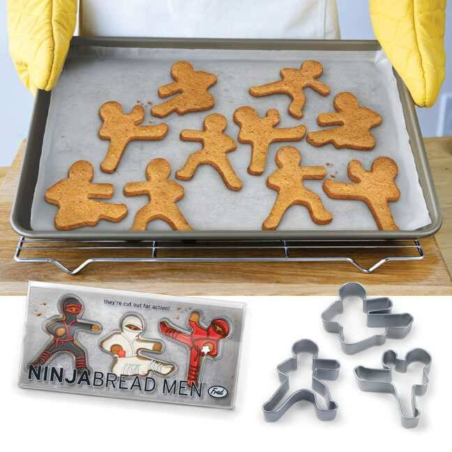 Ninjabread Men Cookie Cutters - http://coolthings.us