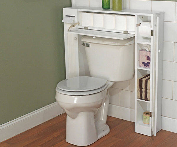 Over the Toilet Cabinet Bathroom Space Saver - http://coolthings.us