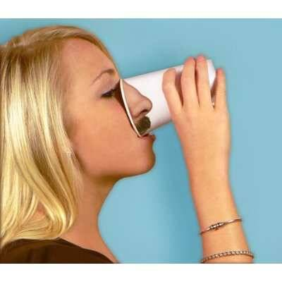 Nose Paper Cups - http://coolthings.us
