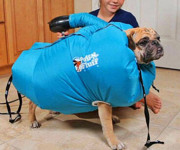 Puff-N-Fluff Dog Dryer - http://coolthings.us