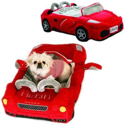 Red Furarri Dog Bed - http://coolthings.us
