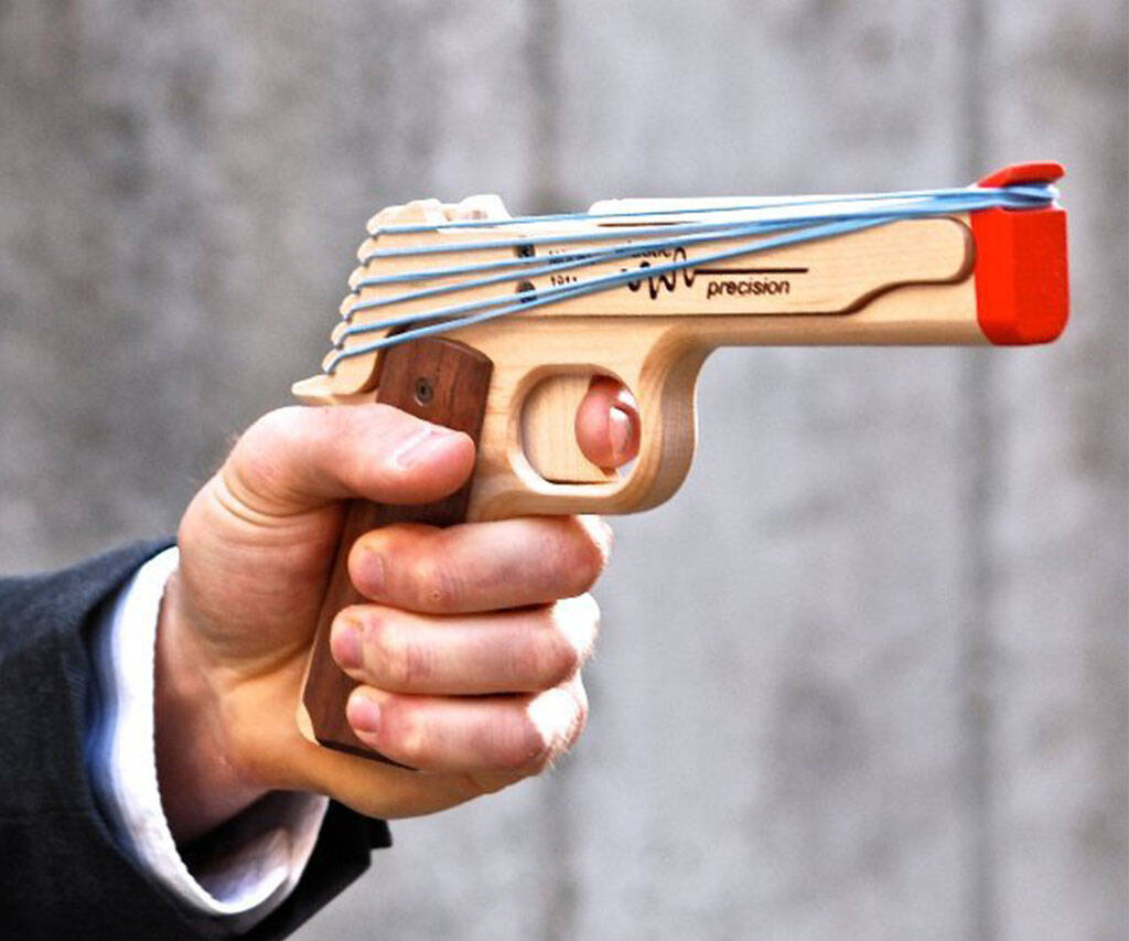 Rubber Band Gun - http://coolthings.us