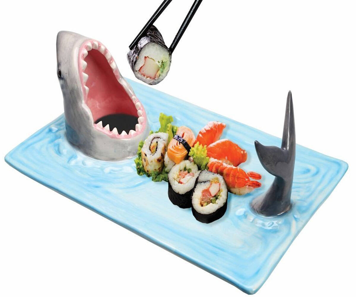 Shark Attack Sushi Serving Platter - http://coolthings.us
