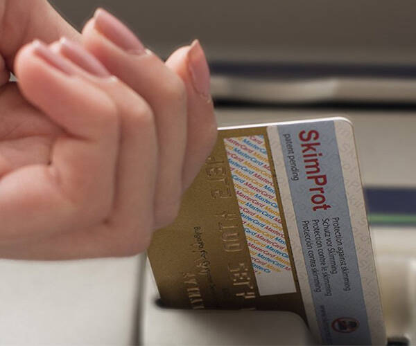 SkimProt Fraud and Data Protection Sticker for Bank Cards - http://coolthings.us