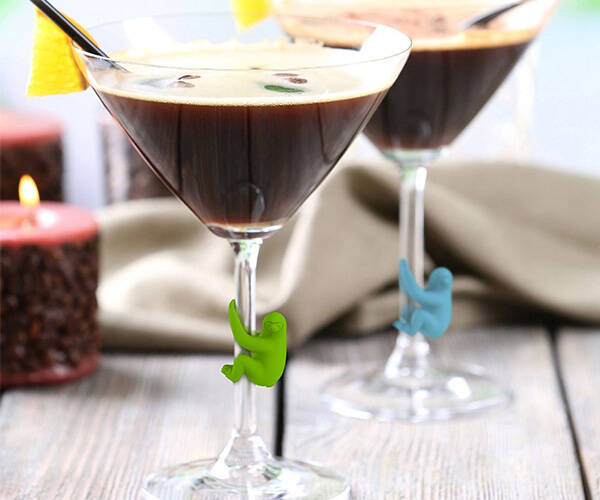 Social Climbers Sloth Drink Markers - http://coolthings.us